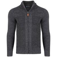 New Mens Big & Tall cardigan zip zipper Full Zip Jumper Sweater knitwear ribbed