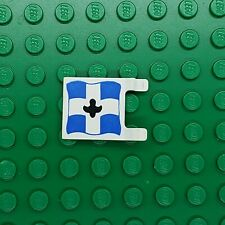 LEGO Flag 2x2 w/Crossed Cannons Blue White Cross Eldorado Fortress 6276 2335p04