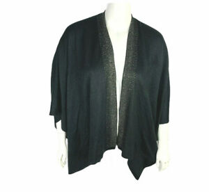 Calvin Klein Womans  Cape Poncho Bling One Size Cover Up