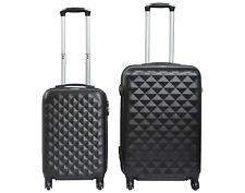 Juego de 2 maletas de 4 ruedas rombo maleta de cabina maleta mediana ABS varios