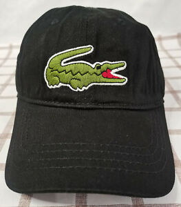 Lacoste Baseball Hat Adjustable Cap Black