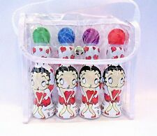 Betty Boop Bingo Daubers Markers Mini Tip Set Of 4 In Vinyl Carrying Case New