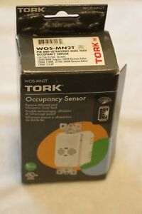 Lot of 2 TORK WOS-MN2T Passive Infrared & ULTRASONIC DUAL TECH OCCUPANCY SENSOR