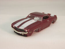 Model Motoring Burgundy W/Wh Stripes '69 Camaro Z-28 Shell ~New~Fits Aurora Tjet