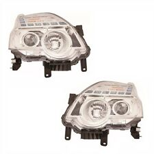 For Nissan X-Trail 2011 Headlights Headlamps Chrome 1 Pair O/S And N/S