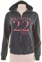 HOLLISTER Womens Hoodie Sweater Size 14 Medium Navy Blue Cotton  HG14