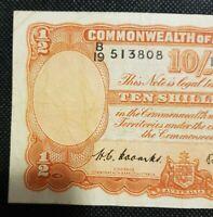 1952 Australia 10 Shillings George R15 COOMBS/WILSON VF B/19 513808