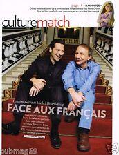 Coupure de Presse Clipping 2010 (4 pages) Laurent Gerra et Michel Houellebecq