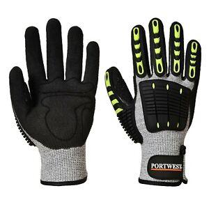 PORTWEST Anti Impact Cut Resistant C Glove Nitrile Reinforced Breathable A722