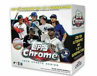 **SHIPS NOW** Lot 6x New Topps MLB Chrome Updates Baseball Trading Card Mega Box