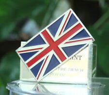 1 oz UK United Kingdom Great Britain Flag 100 Mills .999 Silver Plated Bar