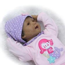 22 pouces Silicone Reborn Toddler Poupée Souriant Bébé Poupée Fille Avec F8P2