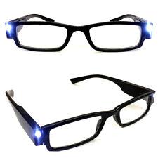 Lesebrille mit LED-Leselicht | Lesehilfe Sehhilfe Leselampe Brille | 1,0-3,5 dpt