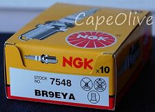 10 PCS – NGK 7548 V-Power Spark Plugs (BR9EYA) Solid Tip - EXPEDITED SHIPPING -