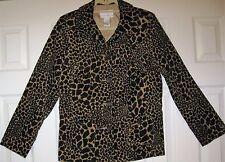 Women's Size Small Susan Graver Leopard Print Jacket/Blazer