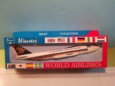 WOOSTER (W640) SINGAPORE CARGO  MEGA ARK 747F 1:250 SCALE PLASTIC SNAPFIT MODEL