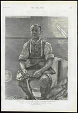 1889 antica stampa-Londra Assenzio SCRUBS prigione di lavoro detenuto Vita (233)