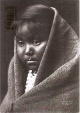 E. S. / Edward S. Curtis : A CHILD OF THE DESERT / APACHE GIRL Postcard