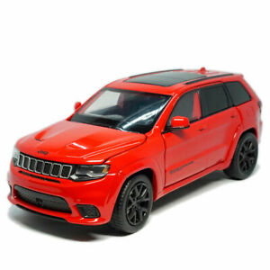 1:32 Jeep Grand Cherokee Trackhawk Model Car Diecast Toy Vehicle Kids Gift Red