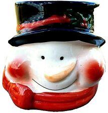 Royal Norfolk Christmas Festive Ceramic Snowman Candy Jar 3