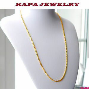 Indian Necklace chain rope curb 22 in chain kapa Jewelry X22