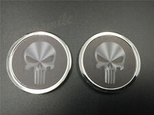 3D Metal Skull Punisher Car Sticker Badge Auto Emblem Decal 3M Motorcycle Round