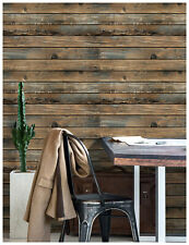 3D Peel and Stick Wood Wallpaper Brown Self Adhesive Contact Paper Decorative