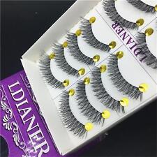10Pairs  Natural Long Makeup False Eyelashes Eye Lashes Extention Thick Cross