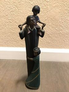 "~1996 Enesco Parastone ""A Father's Love"" Mahogany Princess Figurine 12.5"" Tall!"