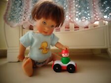"""Mini Fisher Price toy car for Ellery Kish or 5-8"""" polymer clay baby doll Diorama"""
