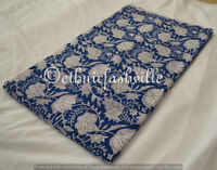 5 Yard Indian Hand block Print Running Loose Cotton Fabrics Printed Decor New_21
