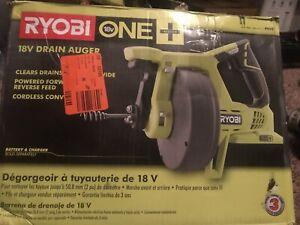 Ryobi P4001 18V 18-Volt ONE+ Drain Auger Pipe Snake Sewer Cleaner Bare Tool Only