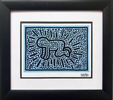 """Keith Haring """"KH18"""" CUSTOM FRAMED Pop Art Plate Signed"""