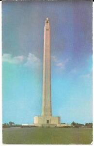 Houston, Texas - San Jacinto Monument & Museum Vintage Postcard