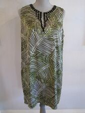 NWT MICHAEL KORS SZ 10 KIWI PALM LEAVES SLEEVELESS LINED DRESS MSRP $190.00