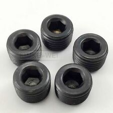 "5pcs 1/4""NPT Black Internal Thread Socket Pipe Plug"