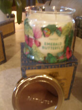 Partylite Emerald Butterfly Signature 3-wick Jar Candle Brand New