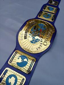 Wwf Ic Oval Intercontinental Championship Belt Replica, 4mm Zinc Plates, (adult)