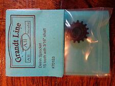 """Grandt Line #70153 Delrin Sprocket 15 Tooth for: 3/16"""" Shaft"""