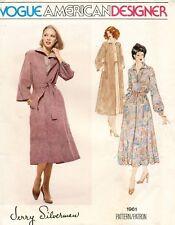 1970's VTG VOGUE Dress,Coat Jerry Silverman Pattern 1961 Size 10 UNCUT
