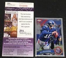 ELI MANNING 2011 TOPPS CHROME SIGNED AUTOGRAPHED CARD #12 GIANTS JSA CERTIFIED