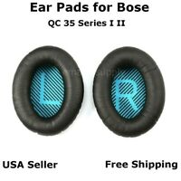 Ear Cushion Pads Pair Black for Bose QuietComfort QC 35 Series I II Free Ship