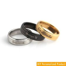 Personalized Custom Engraved Name Date  Couples Promise Wedding Ring Gift Sz6-12