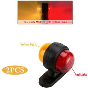 12-24V Cargo Truck Emergency Warning Lamp Grille Strobe Side Marker Flash Lights