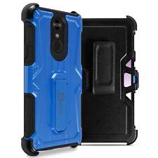For LG Stylo 4 Plus / Stylo 4 / Q Stylus Belt Clip Case Blue Holster Phone Cover