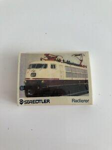 E27 Vintage 80s 90s Erasers - Vintage Staedtler Radierer Train Eraser