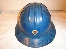Vintage Jackson Products Co. Blue Full Brim Fiberglass Hard Hat Type Sh-1