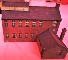 OO Gauge Model Railway LOW RELIEF Factory Building Scratch Built 1/76