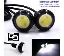 EAGLE EYE LIGHTS (Qty:4pcs) 9W 12VDC COB LED  – 18mm Dia – Black Base - C White