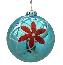 Giant Turquoise Baubles (12cm) - 2 Pack